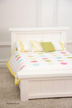 "DIY Doll Bed for 18"" inch doll Tutorial | theidearoom.net"