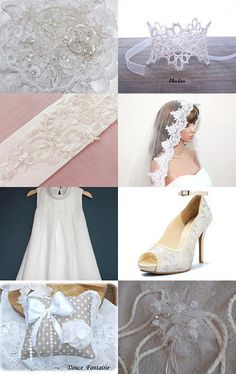 beautiful white wedding /beau mariage blanc by Patricia Deley on Etsy--Pinned with TreasuryPin.com