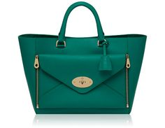 Mulberry - Willow Tote in Emerald Silky Classic Calf