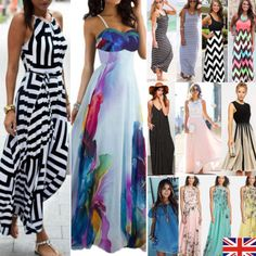 New ladies #floral maxi boho summer long skirt #evening cocktail #party dress 8-1,  View more on the LINK: 	http://www.zeppy.io/product/gb/2/301971850081/