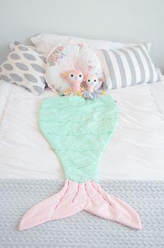 whimsical tails mermaid tail blanket