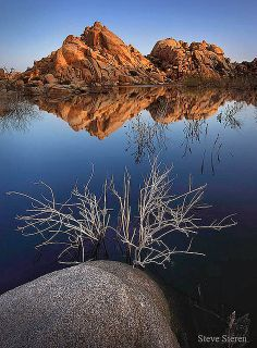 joshua tree barker dam #reflections