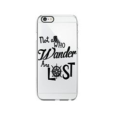 Not All Who Wander Are Lost Tolkien Clear Transparent Plastic Phone Case Phone Cover for Iphone 6 6s_ SCORPIOshop (iphone 6)