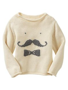 8ecf29d3b Gap Mustache Sweater Stylish Kids, Kid Styles, Resale Clothing, Kids  Clothing, Layette