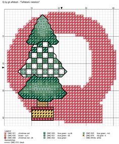 alfabeto natalizio Q