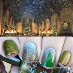 Ashley is PolishAddicted: Indie Spotlight: Paint Box Polish with Harry Potter-Inspired Christmas Nail Art
