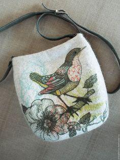 Купить Сумка валяная В ожидании - валяная сумка, сумка валяная, войлочная сумка