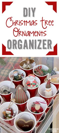 Help for tackling the after Christmas clean-up! Make Your Own Christmas Ornaments Storage Box. | One Good Thing By Jillee