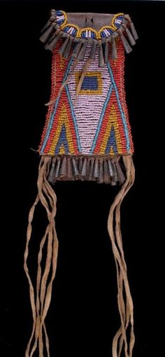 Kiowa Strike-A-Lite Beaded Bag circa 1890's This p