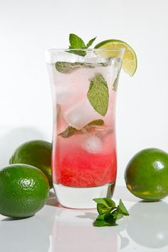 Need to get rhubarb syrup for mojitos:  4 mint leaves  ice  1 ounce lime juice, about 1 lime  1 ounce white rum  1/2 ounce rhubarb syrup  club soda