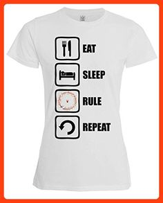 Lord Of The Rings Inspired Eat Sleep Rule Repeat Sauron Womens T-Shirt XX-Large
