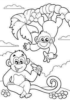 Affen 0 Ausmalbilder Baby Dibujos Para Pintar Pintar Dibujos