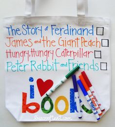 DIY Summer activity bag. Let the kids color and create their own art.