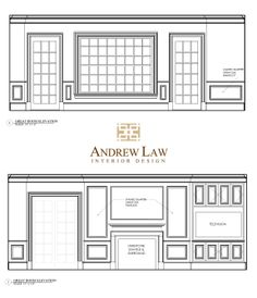 BethesdaStyle Great Room Elevations From Andrew Law Interior Design Andrewlaw
