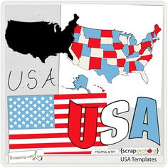 USA Templates by Scrapping with Liz