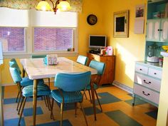 """kitchen furniture retro - You can see and find a picture of kitchen furniture retro with the best image quality at """"Home Design And Improvement Galery""""."""