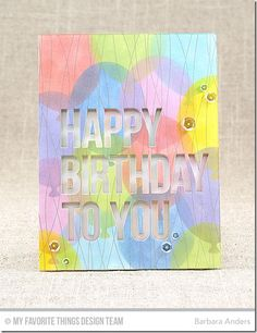 Big Balloons Stencil, Happy Birthday to You Die-namics, Balloon Strings Background - Barbara Anders  #mftstamps