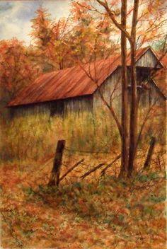 watercolor ~ barn