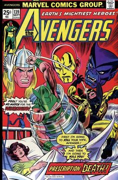 The Avengers #139, September 1975, cover by Gil Kane and Frank Giacoia