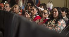 Native Americans listen to US President Barack Obama address the White House Tribal Nations Conference in Washington. (File)