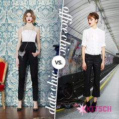 #KitschPick Which one of these classic Black & White Alice & Olivia looks do you prefer? http://www.kitsch.in/