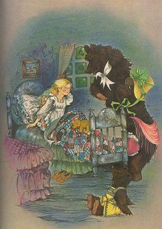 """Goldilocks and the Three Bears"" Big Golden Book of Fairy Tales 1981 7"
