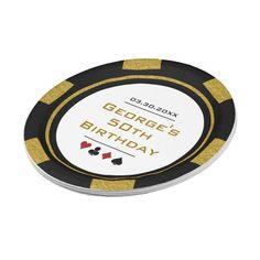 Vegas Birthday, 50th Birthday, Themed Birthday Cakes, Birthday Party Themes, Vegas Casino, Las Vegas, Poker Cupcakes, Custom Poker Chips, Vegas Theme