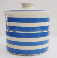 T G Green Cornishware tiered vegetable dish, 1970 target mark .