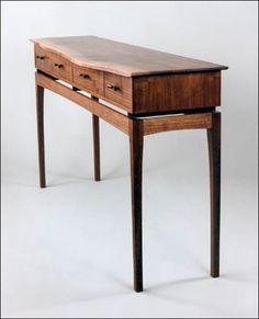 black walnut - Fine Custom Woodworking - Wane Edged Sideboard