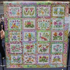 Beautiful appliqué quilt