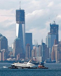 space shuttle Enterprise; Hudson River, New York