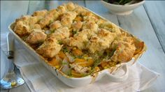 Fast Ed's chicken and sweetcorn cobbler
