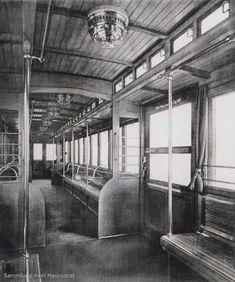 Ca.1905:U-Bahnwagen 3er. Klasse Grey Wallpaper Iphone, Bahn Berlin, Metro Subway, S Bahn, Berlin Germany, Architecture, Art Deco, Creative, Train