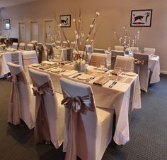 Taupe table decoration