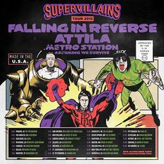 JUST ANNOUNCED- Live Nation Presents: Falling in Reverse with Attila, Metro Station & Assuming We Survive. Presale at local with password BASS. Click the image for tickets. Artists On Tour, Falling In Reverse, Bmth, Metro Station, New Orleans, Blues, Survival, Presents, Friday
