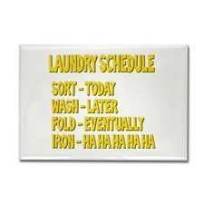 Laundry Schedule Rectangle Magnet