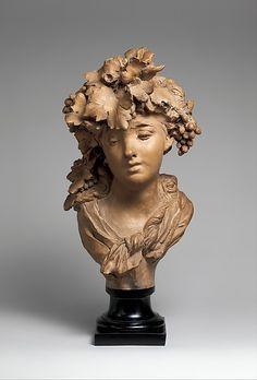 BaccBacchante (Grapes or Autumn) Artist: Auguste Rodin (French, Paris Meudon) Date: ca. Auguste Rodin, Abstract Sculpture, Bronze Sculpture, Sculpture Art, Metal Sculptures, Rodin Artist, Artist Art, Camille Claudel, Rodin Drawing