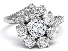 Floral Art Deco Diamond Engagement Ring - ES1185 (my absolute FAVORITE)