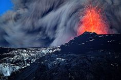 Lava fountain and flow