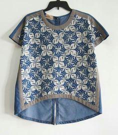 super Ideas for sewing women clothes dressmaking Blouse Batik, Batik Dress, Batik Fashion, Fashion Sewing, Fashion Top, Fashion Dresses, Sewing Clothes Women, Diy Clothes, Mode Top