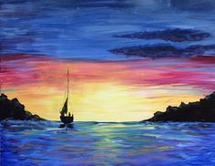 Sail Away - #paintnite #sky #art #sailing