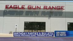 Now this is more like it!  Birthday Parties and Bullets;) Owner Defends Hosting Birthday Parties for Kids at Texas Gun Range.