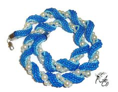 This necklace was created for the Etsy Beadweavers Team May challenge on the theme Nautical Inspired. Please visit our team blog,