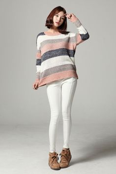 Soft Stripe Knit Sweater