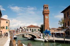 Tower and glass sculpture in Murano, Venice, Italy by Max Mayorov, via Flickr