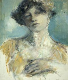 A portrait of Sigrid Hjerten( swedish painter )by Maria Björklund