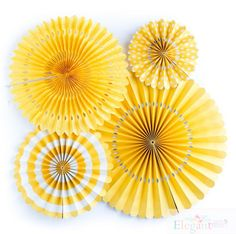 Decorate your next party with these stylish paper rosettes.  Set of 4 rosettes/pinwheels 1(17) diameter rosettes 1( 14) diameter rosettes 1(11) diameter rosettes. 1(8) diameter rosettes. Set of 8 rosettes/pinwheels 2(17) diameter rosettes 2( 14) diameter rosettes 2(11) diameter rosettes. 2(8) diameter rosettes. Set of 12 rosettes/pinwheels 3(17) diameter rosettes 3( 14) diameter rosettes 3(11) diameter rosettes. 3(8) diameter rosettes. Set of 16 rosettes/pinwheels 4 (17) d...