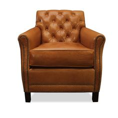 Complete Your Den Or Parlor Ensemble With This Comfy Arm Chair, Featuring  Nailhead Trim And