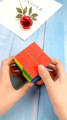 Diy Crafts For Girls, Fun Diy Crafts, Diy Arts And Crafts, Diy For Kids, Paper Folding Crafts, Cool Paper Crafts, Paper Crafts Origami, Diy Fidget Toys, Instruções Origami