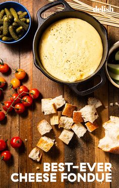 Few foods are more fun to eat than a good old-fashioned cheese fondue. Hot Cheese Dips, Beer Cheese Fondue, Fondue Recipes, Snack Recipes, Cooking Recipes, Cheese Recipes, Appetizer Recipes, Yummy Recipes, Chipotle Copycat Recipes